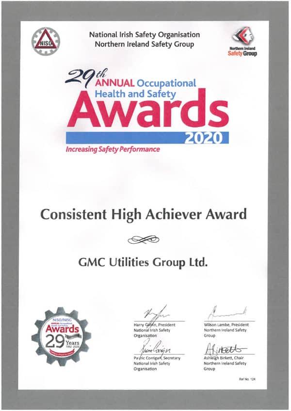 NISO Consistent High Achiever Award 2020